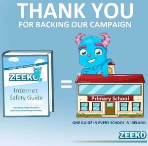 Every Primary School in Ireland will get a Digital Copy of the Zeeko Internet Safety Guide!