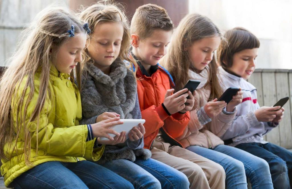 kids and the use of smartphones